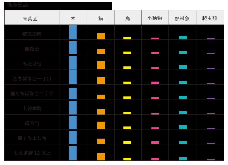 子セグメント ペット 鴨志田店